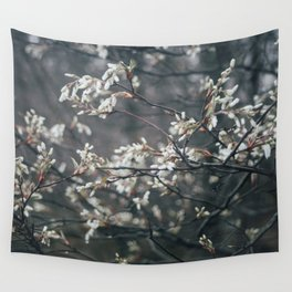 Wild Cherry Blossom Wall Tapestry