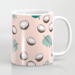 Little coconut garden summer surf palm leaves pink Coffee Mug