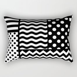 Mixed Patterns (Horizontal Stripes/Polka Dots/Wavy Stripes/Chevron/Checker) Rectangular Pillow