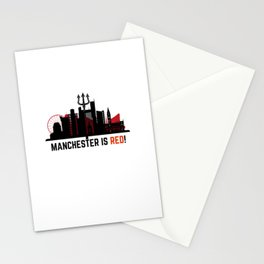 Manchester is Red Stationery Cards