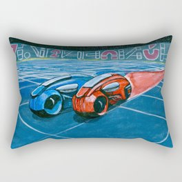 Tron Light Cycles Rectangular Pillow