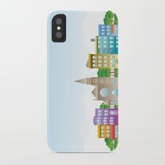 Park Slope Skyline (Color) Slim Case iPhone X