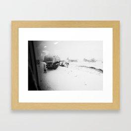 Passing a Crash Framed Art Print
