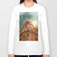 france Long Sleeve T-shirts featuring Montpellier  - France by Victoria Herrera