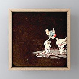 Pinky & The Brain Framed Mini Art Print