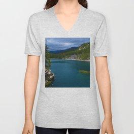 Horseshoe Lake in Jasper National Park, Canada Unisex V-Neck