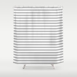 Gray Stripes Shower Curtain