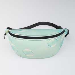 Bubble Photography, Laundry Room Soap Bubbles, Aqua Teal Bathroom Photography Fanny Pack