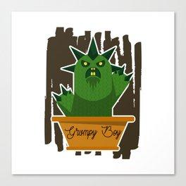 Cactus Grumpy Boy Canvas Print