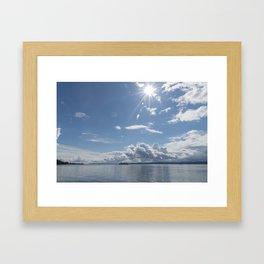 Sailing Sun Burst Framed Art Print
