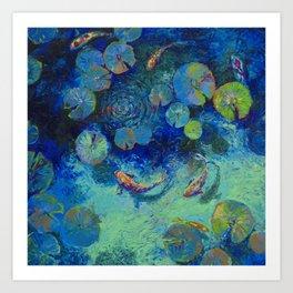 Taiwanese Blue Art Print