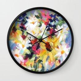 Summer Sunflower Bouquet Wall Clock