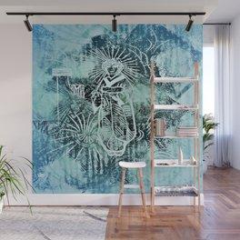 Geisha Blue Wall Mural