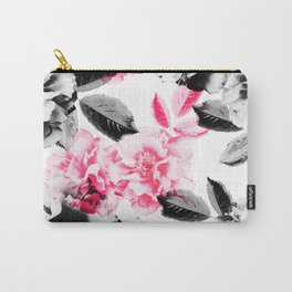 Rose Garden in Pink and Gray Carry-All Pouch