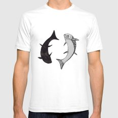 Flying fish SMALL White Mens Fitted Tee