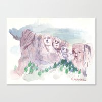 rushmore Canvas Prints featuring Rushmore by Henderson GDI