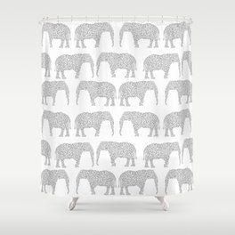 Alabama bama crimson tide elephant state college university pattern footabll Shower Curtain