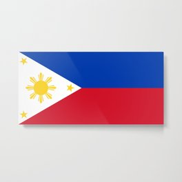 Republic of the Philippines national flag (50% of commission WILL go to help them recover) Metal Print