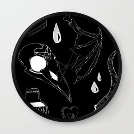 witches' basics negatives Wall Clock