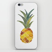 pineapples iPhone & iPod Skins featuring Pineapples by Cat Coquillette