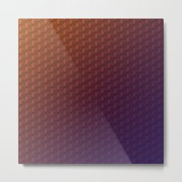 Gradient cube pattern Metal Print