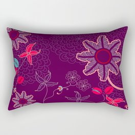 jungle delights deep velvet art print Rectangular Pillow
