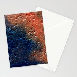 Grunge orange navy blue wall Stationery Cards