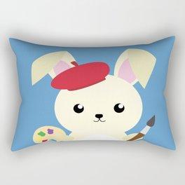 Rabbit Painter Rectangular Pillow