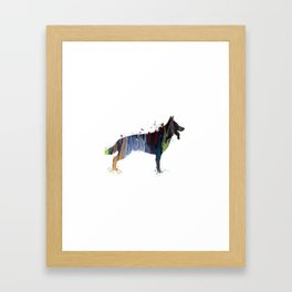 German shepherd Framed Art Print