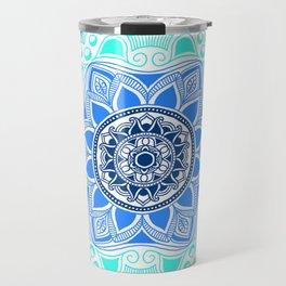 Blue Lagoon Mandala Travel Mug