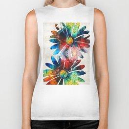Colorful Daisy Art - Hip Daisies - By Sharon Cummings Biker Tank