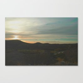 Sunset in Big Bend Canvas Print