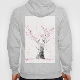 Cherry Blossoms And Birds Hoody