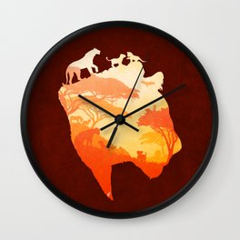 The Heart of a Lioness Wall Clock