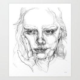 Head in Hand Art Print