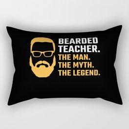 Bearded Teacher Gift Man Myth Legend Funny Beard School Gift Rectangular Pillow