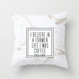 Gilmore Coffee Throw Pillow