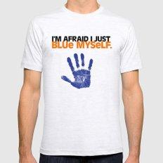 I'm Afraid I Just Blue Myself. X-LARGE Mens Fitted Tee Ash Grey
