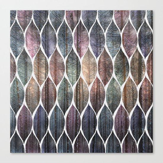 Metallic Leaf Pattern 2 Canvas Print
