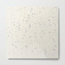 Chaotic circles pattern. Cream. Metal Print