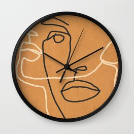 Abstract Face 6 Wall Clock