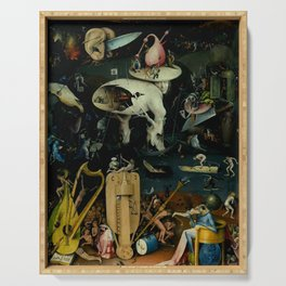 """Hieronymus Bosch """"The Garden of Earthly Delights"""" - Hell Serving Tray"""