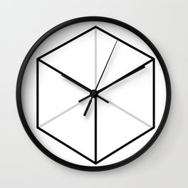 D6, White Wall Clock