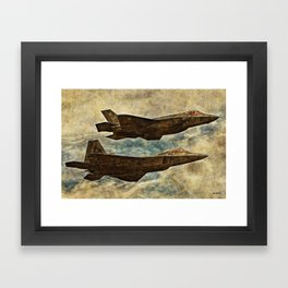 110 F35 & F22 Framed Art Print