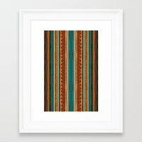 tribal Framed Art Prints featuring Tribal by Klara Acel