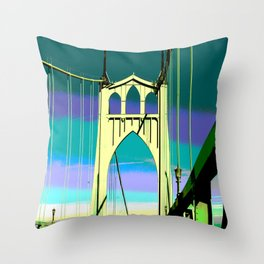 St John's Bridge View 1 Throw Pillow