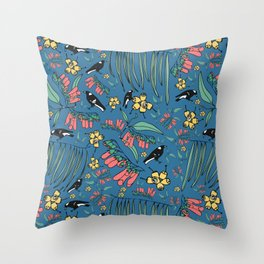 Magpie Muddle Throw Pillow