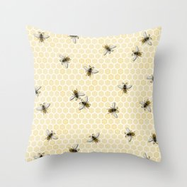 Honey a Bee Farm! Throw Pillow