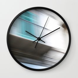Street of Palermo in moving image Wall Clock