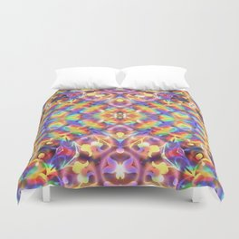 Rainbow Butterfly Geometrica Duvet Cover
